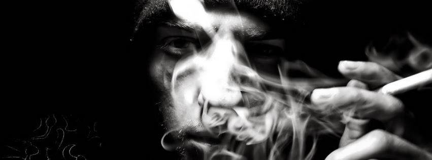 Ảnh bìa facebook hút thuốc với tâm trạng buồn