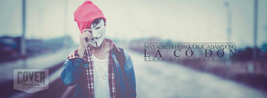 Ảnh bìa facebook mấy ai biết ta cười giữa đám đông là cô đơn trong nỗi lòng