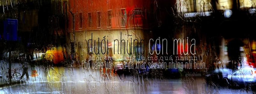 Ảnh buồn cover facebook dưới những cơn mưa mọi thứ lu mờ quá nhanh