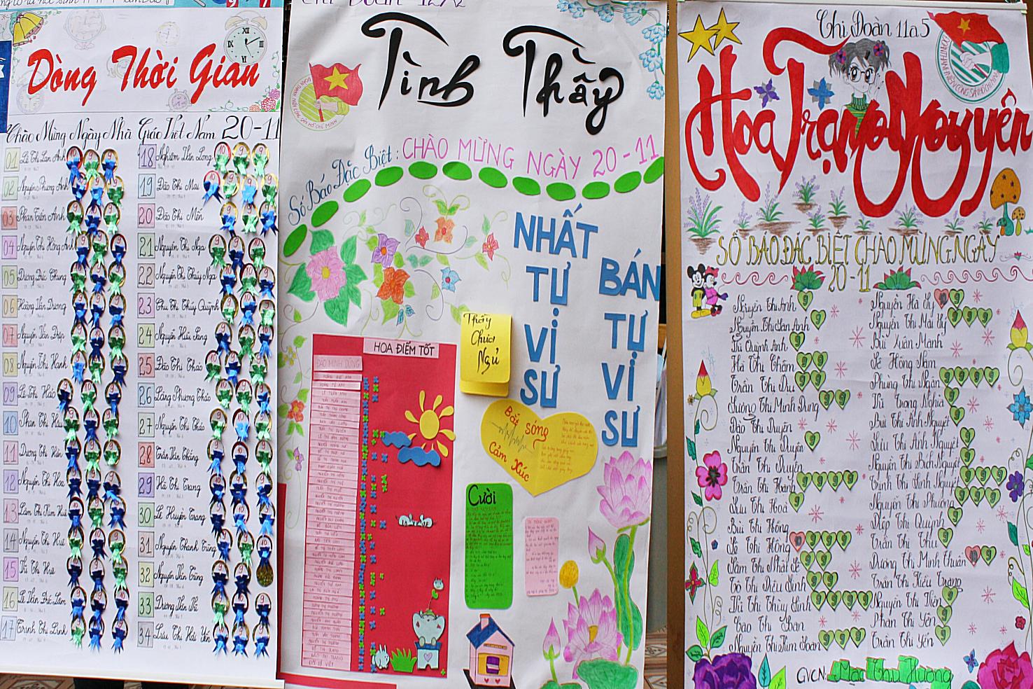 Báo tường đặc biệt dành cho ngày nhà giáo Việt Nam