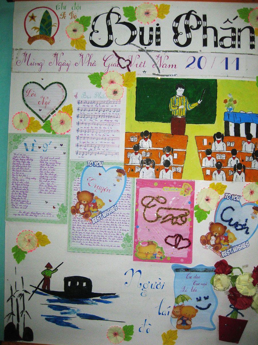 Báo tường đẹp cho ngày nhà giáo Bụi Phấn