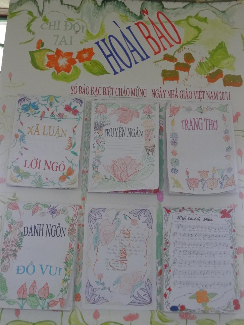 Báo tường Hoài bão chào mừng ngày nhà giáo Việt Nam