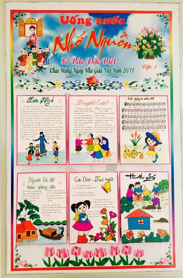 Báo tường Uống nước nhớ nguồn chào mừng ngày nhà giáo Việt Nam