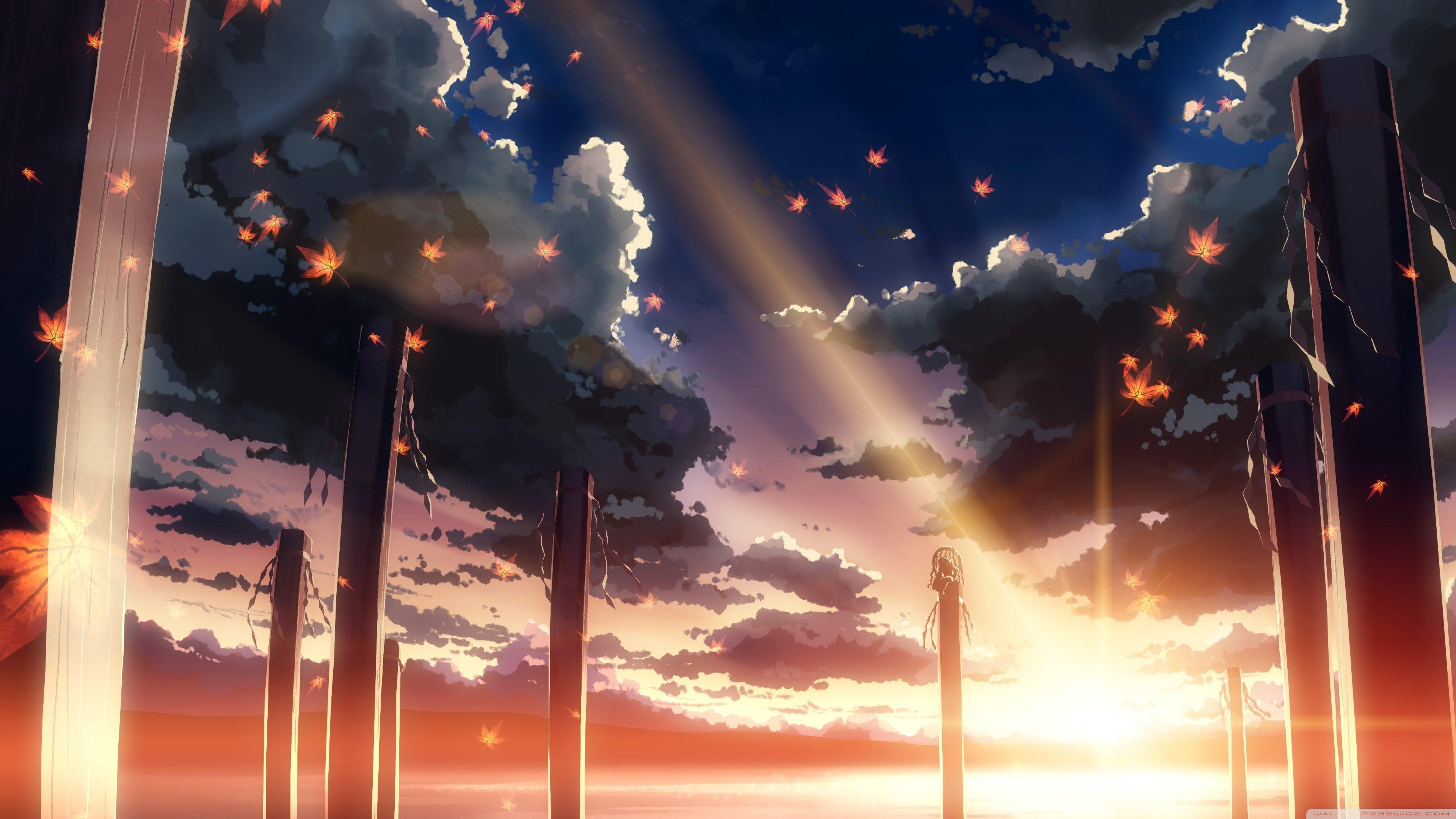 Hình ảnh anime đẹp dưới ánh hoàng hôn