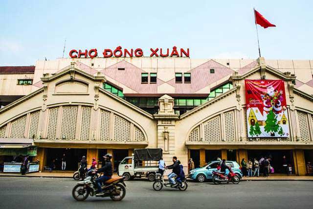 Hình ảnh chợ Đồng Xuân Hà Nội