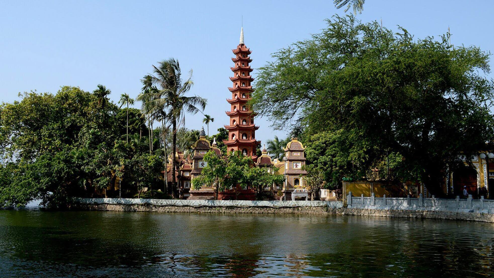 Hình ảnh chùa Trấn Quốc đẹp