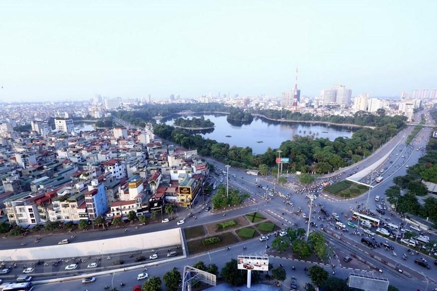 Hình ảnh Hà Nội nhìn từ trên cao