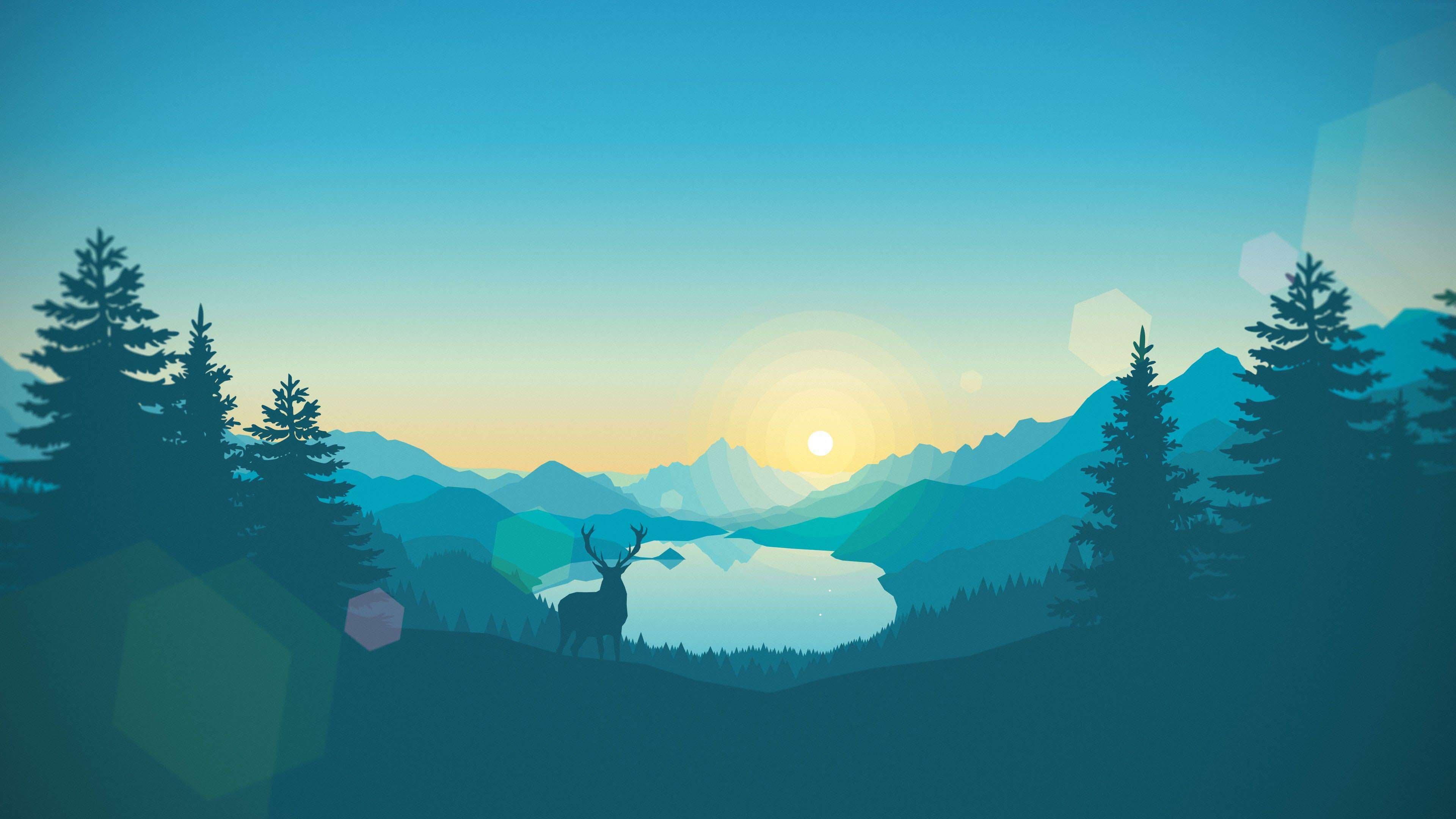 Hình nền art thung lũng trong rừng