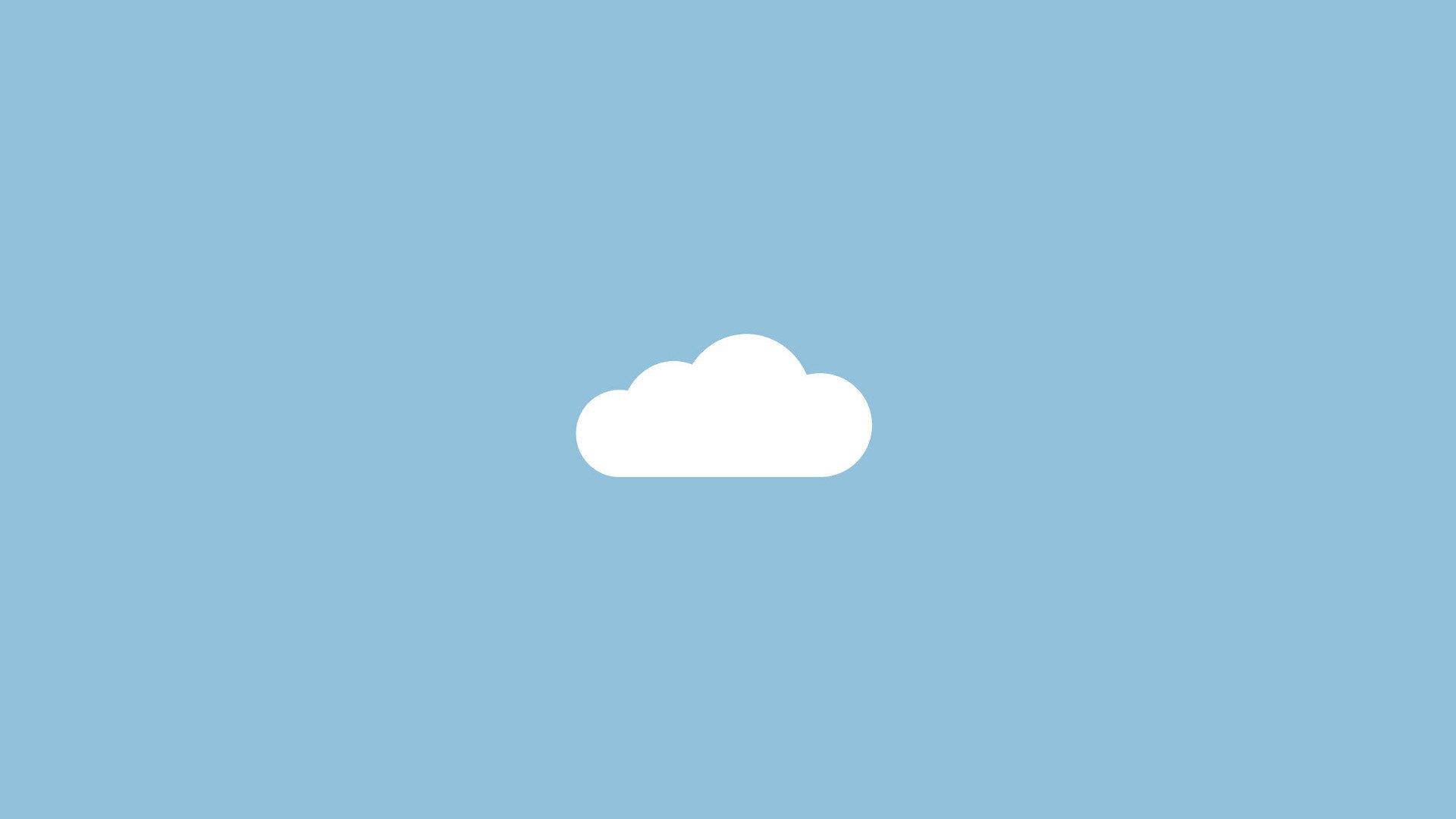 Hình nền đơn giản hình đám mây