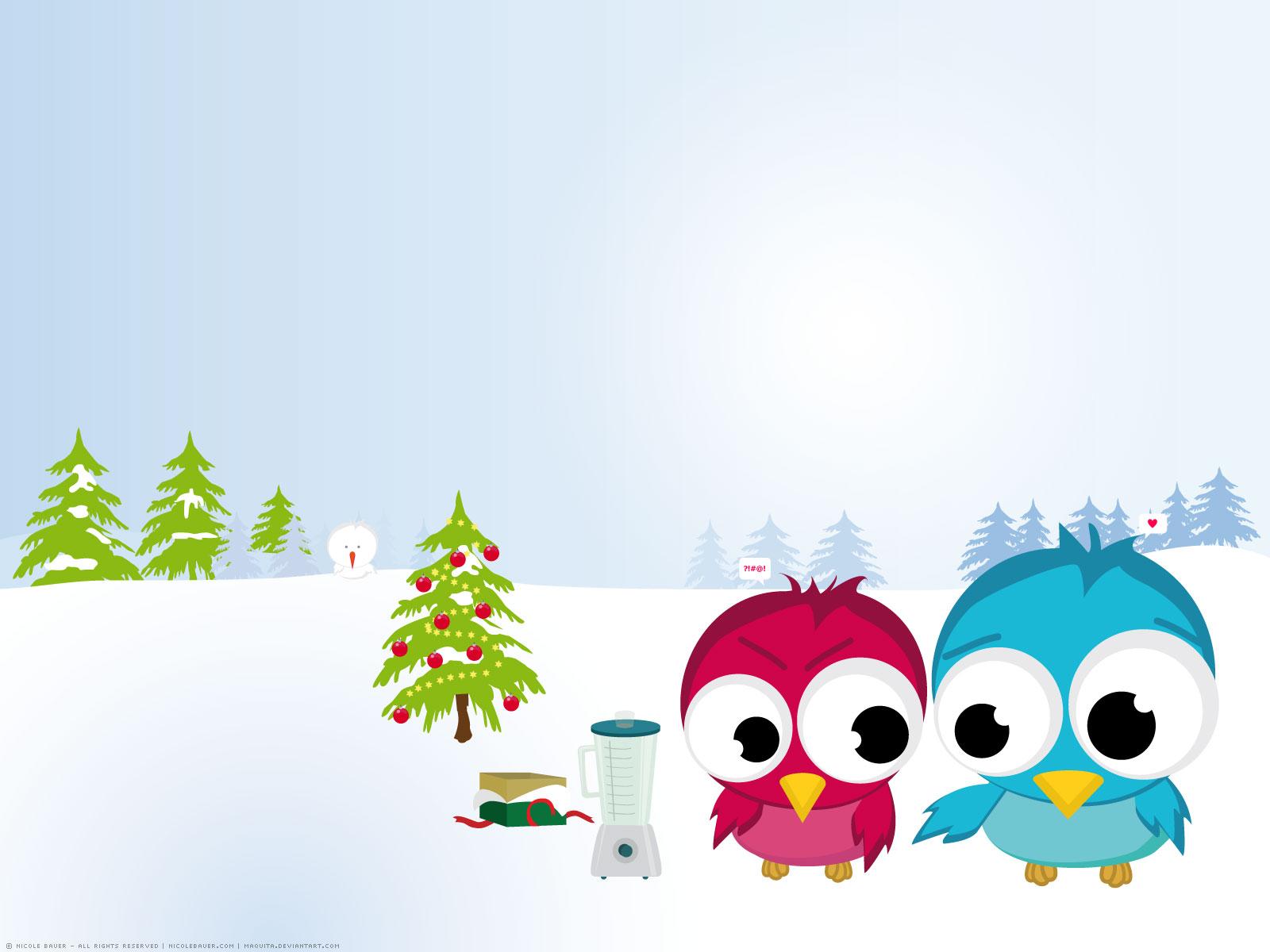 Hình nền hình vẽ hai chú chim xanh đỏ