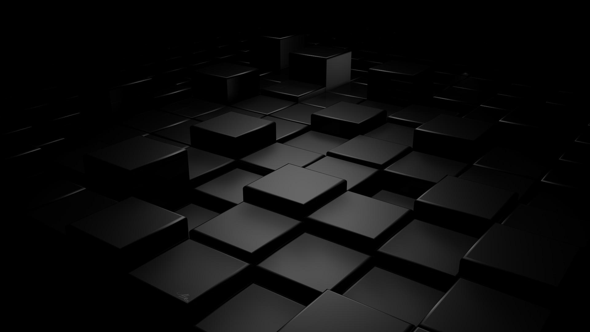 Hình nền màu đen 3d cực đẹp cho máy tính