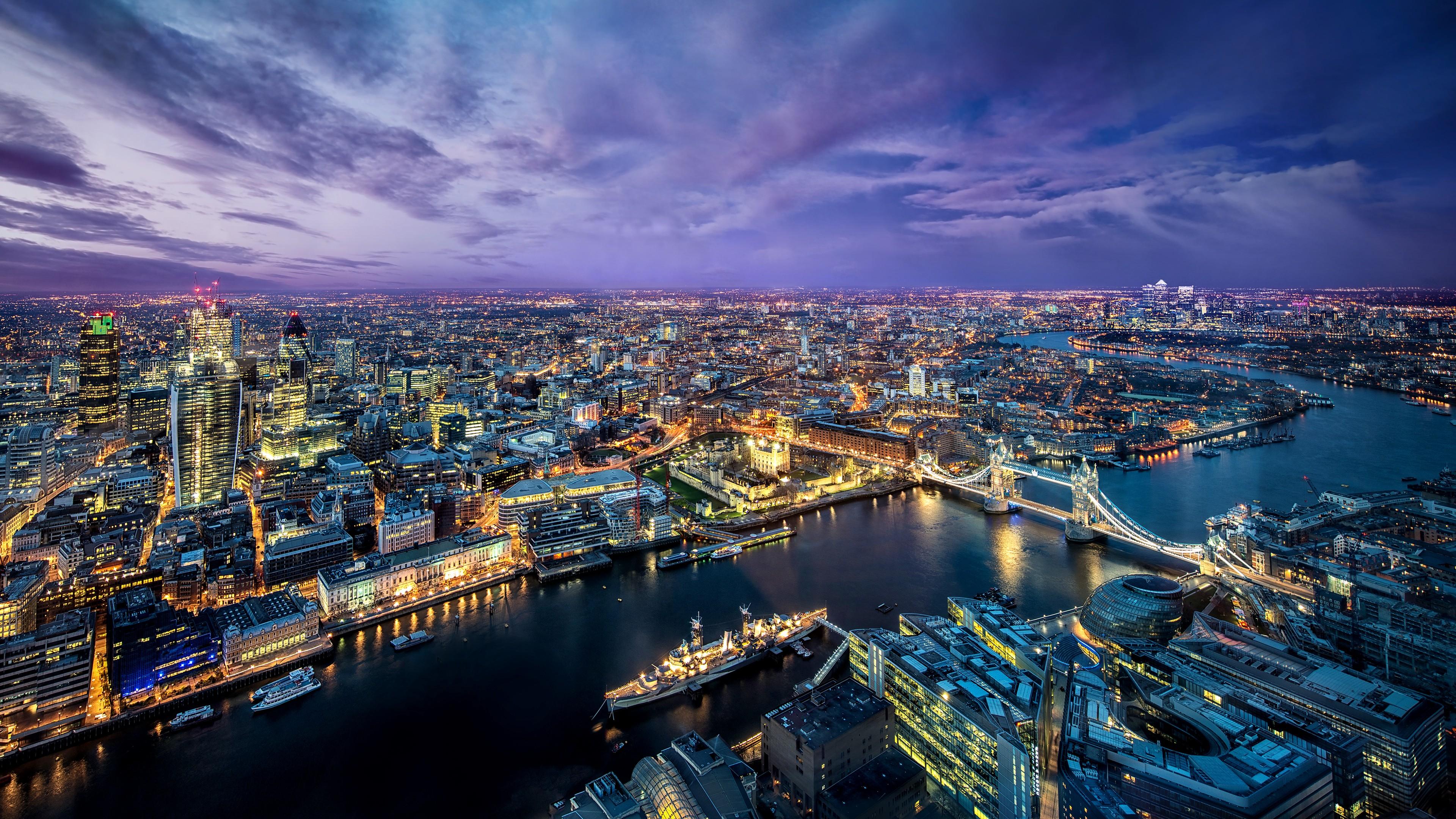 Hình nền nước Anh lúc về đêm