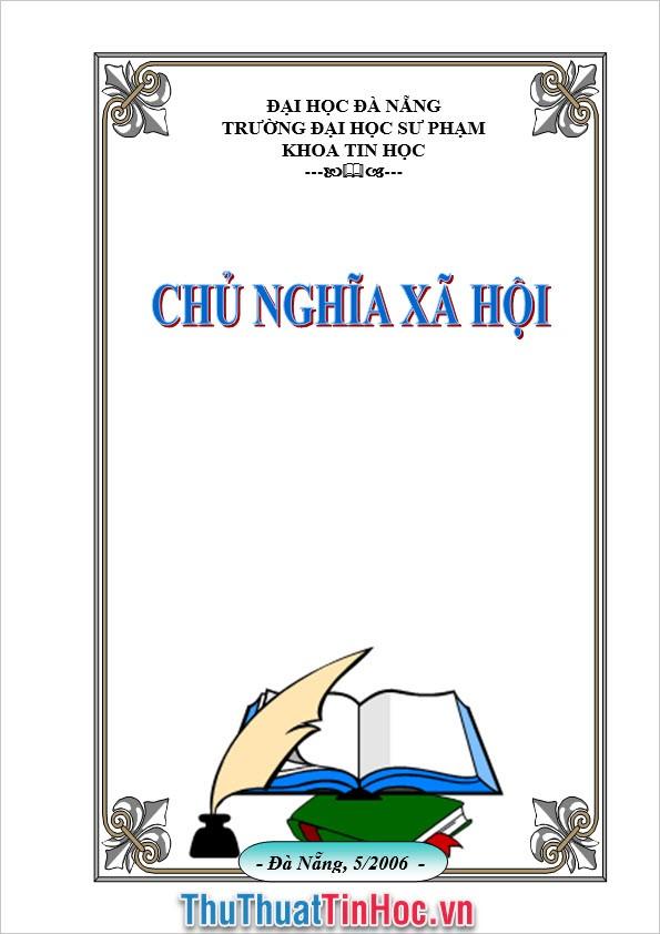 Bìa môn Chủ nghĩa xã hội trường Đại học Đà Nẵng