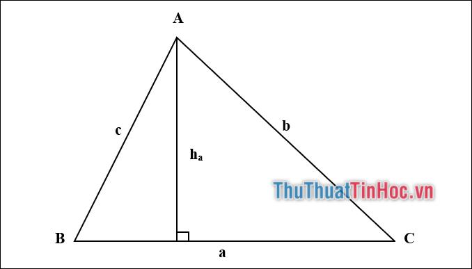 Cách tính diện tích tam giác thường