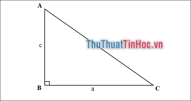 Cách tính diện tích tam giác vuông