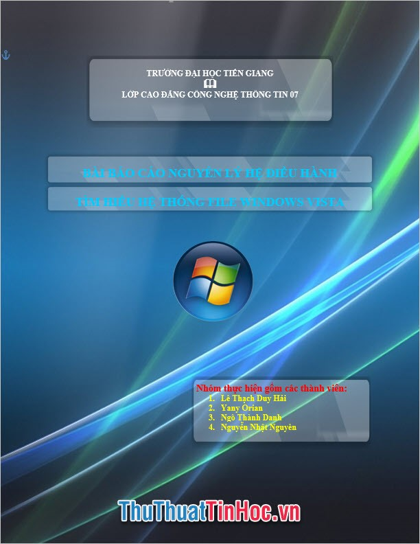 Mẫu bìa phong cách Windows