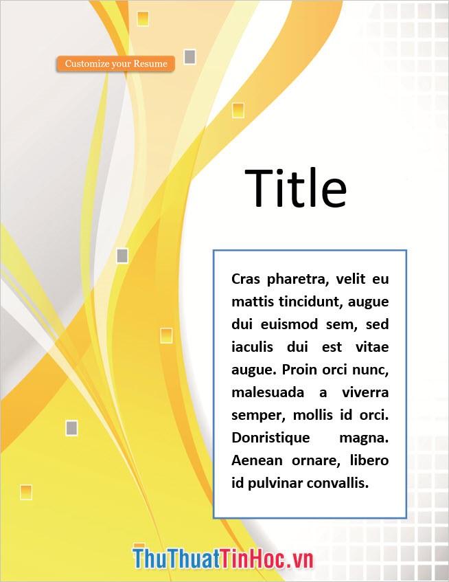 Phong cách bìa Word đa dạng và đẹp mắt