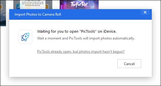 Truy cập ứng dụng PicTools