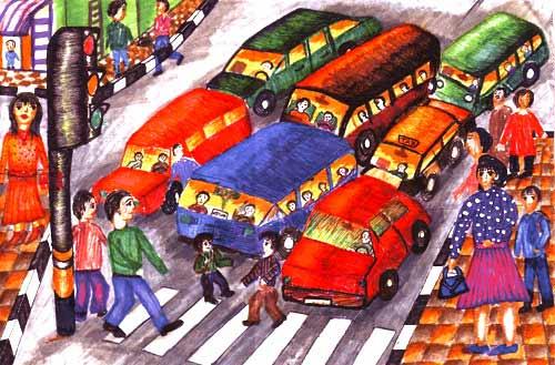 Tông hợp tranh an toàn giao thông