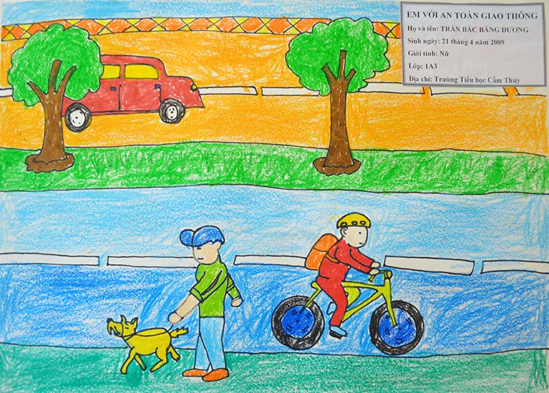 Tranh vẽ ý nghĩa về an toàn giao thông