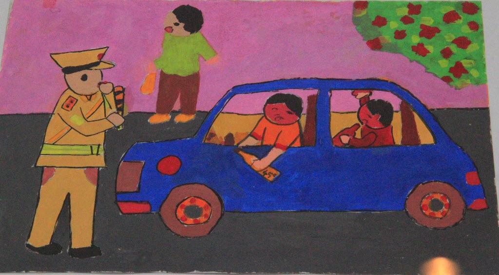 Vẽ tranh an toàn giao thông đẹp