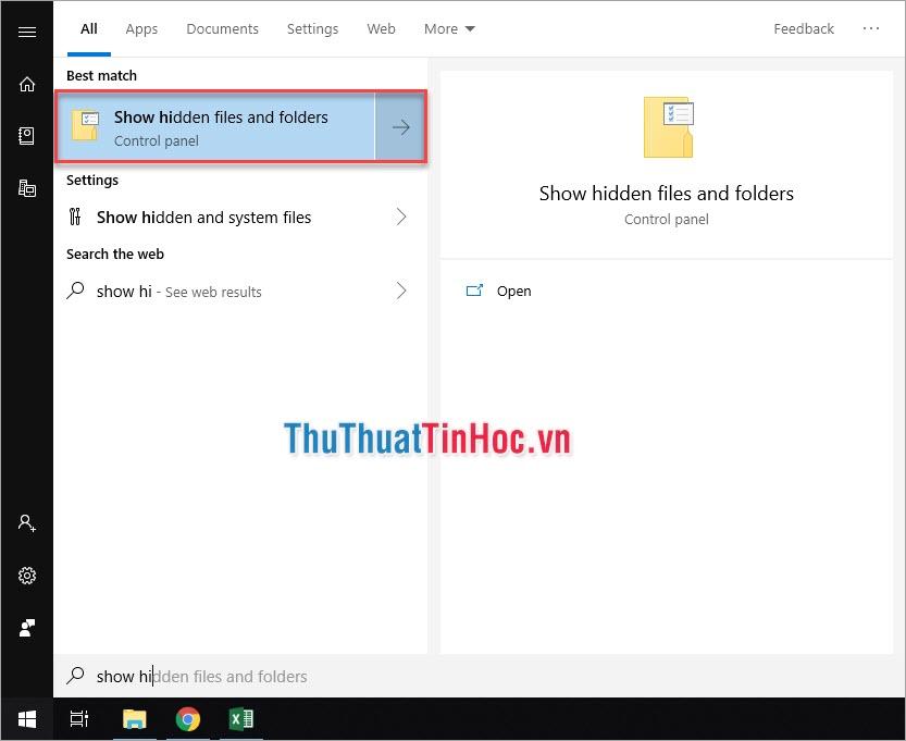 Show hidden files and folder