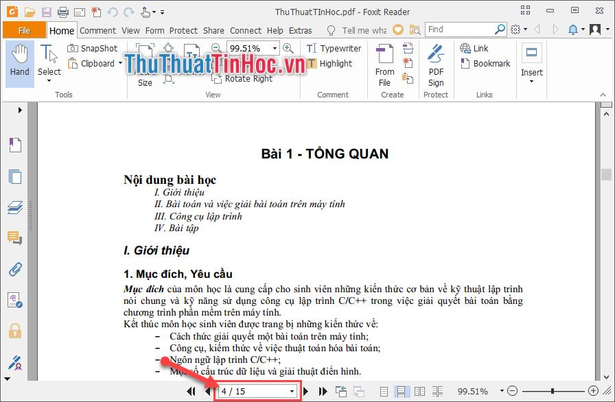 Mở file PDF bằng Foxit Reader