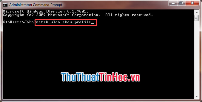 Nhập lệnh Command Prompt