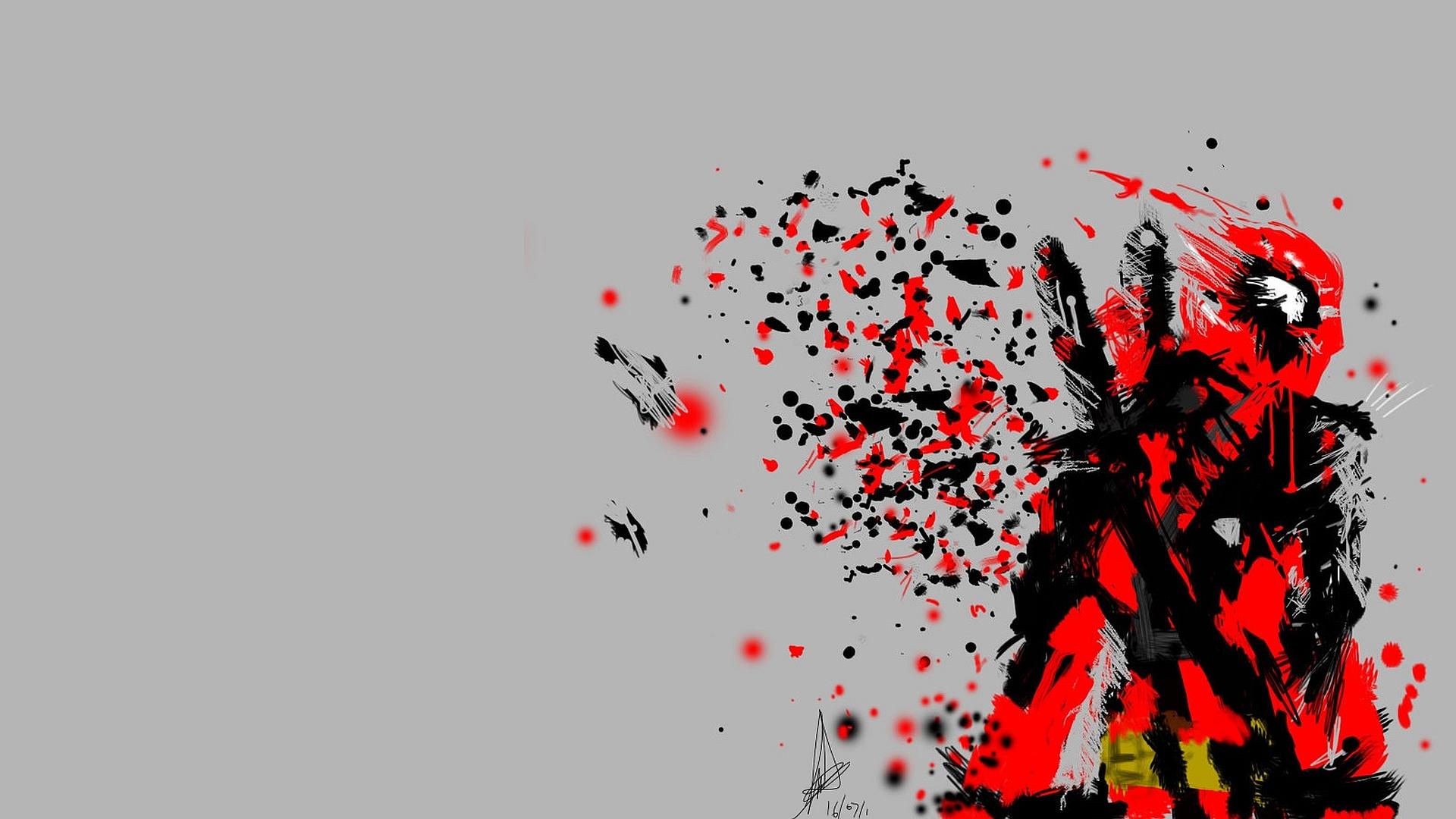 Hình nền Deadpool đẹp vẽ trừu tượng