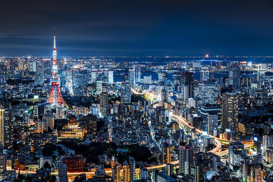 Ảnh đẹp thành phố tokyo về đêm