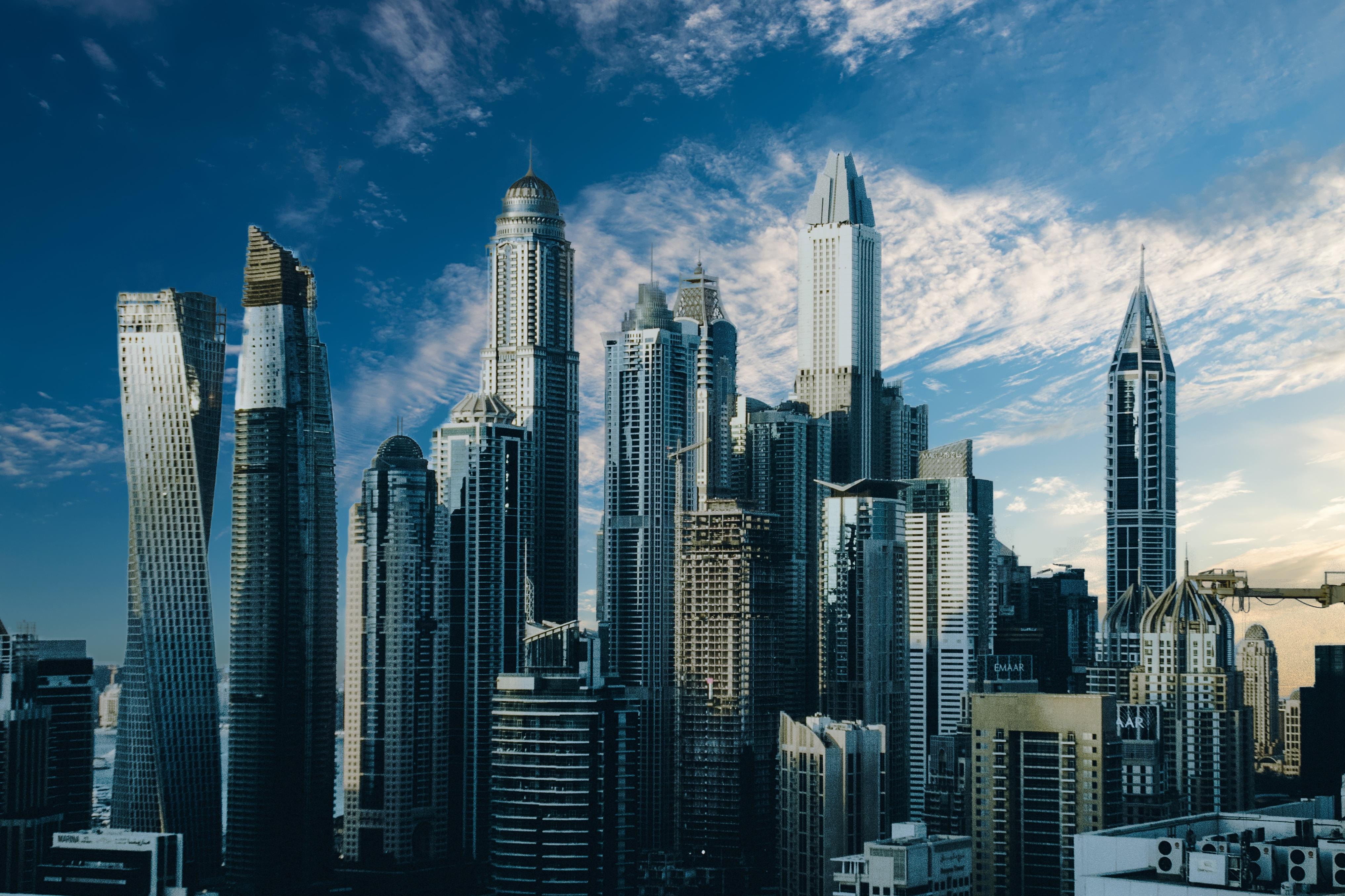 Hình ảnh cao ốc trong thành phố
