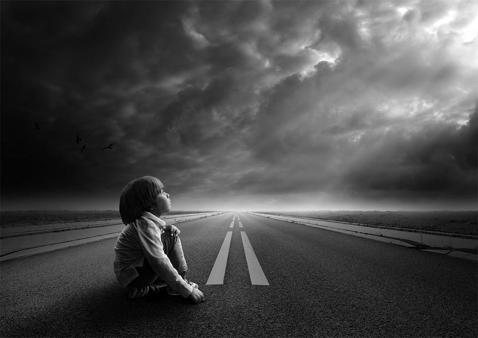 Hình ảnh con đường buồn