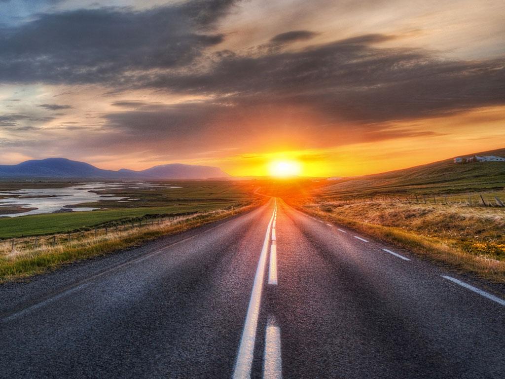 Hình ảnh con đường cuối chiều