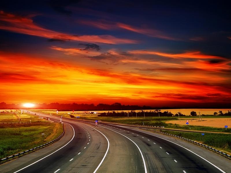 Hình ảnh con đường đẹp cuối chiều