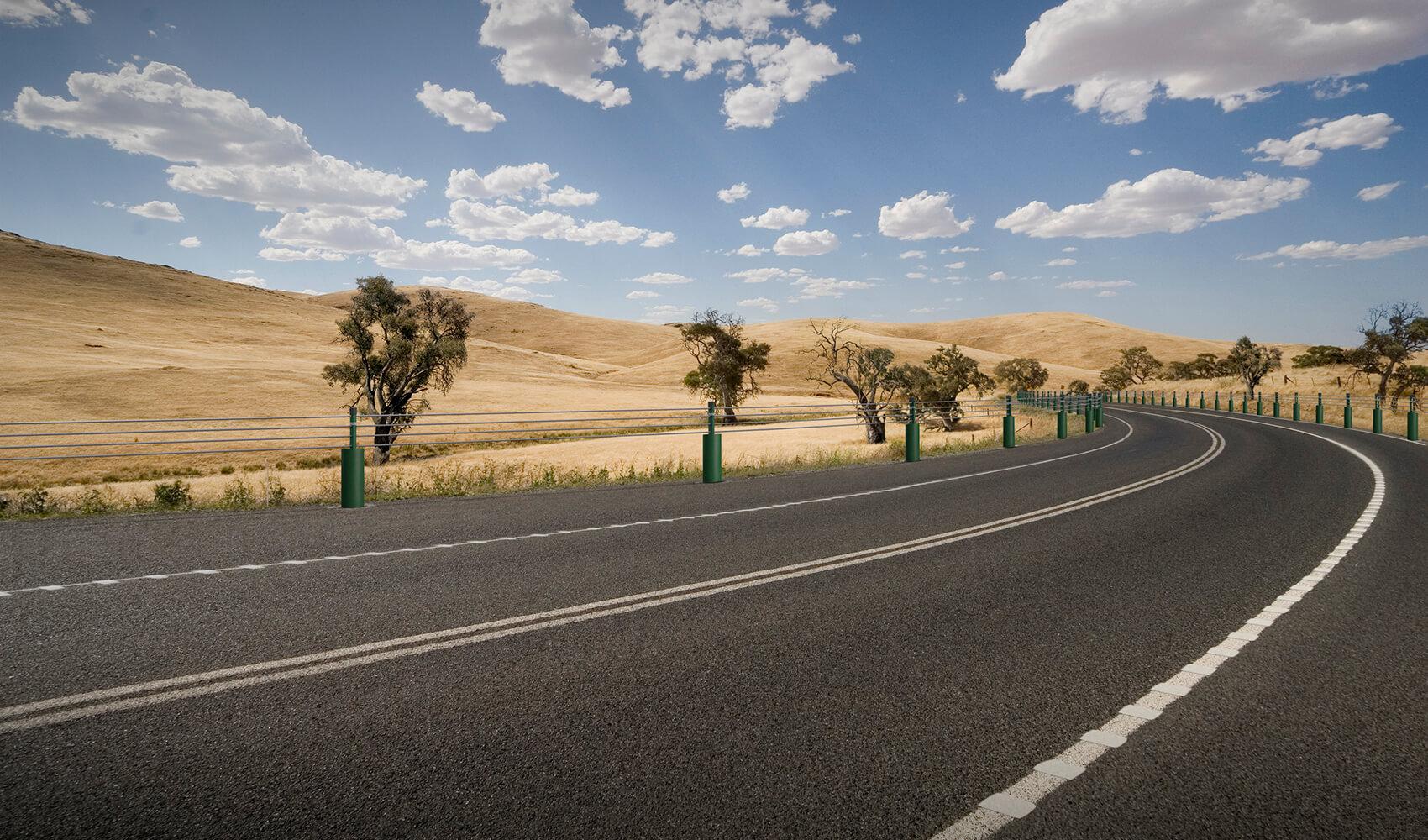 Hình ảnh con đường sa mạc