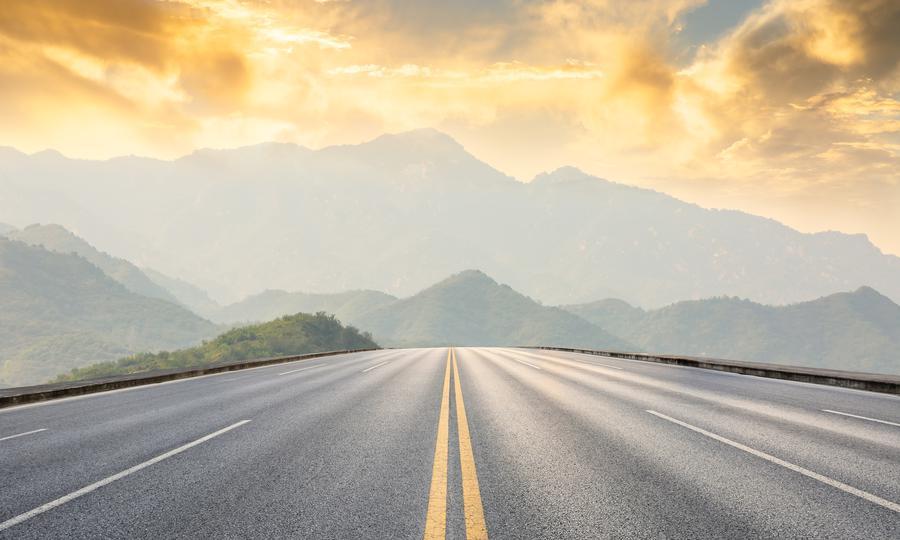 Hình ảnh con đường trên núi
