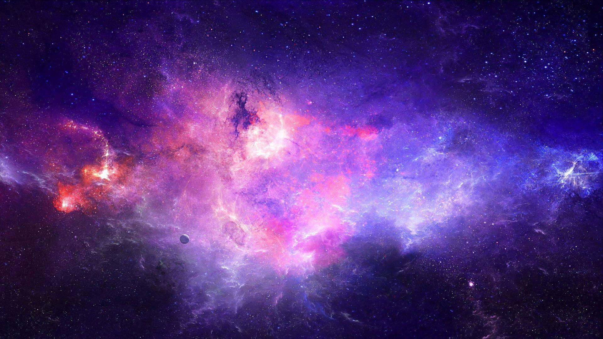 Hình ảnh dải ngân hà màu tím