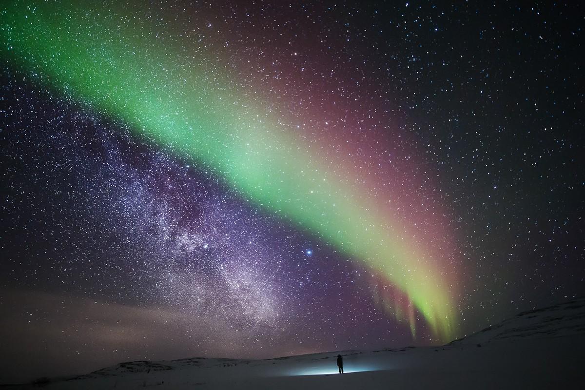 Hình ảnh dải ngân hà trên trái đất