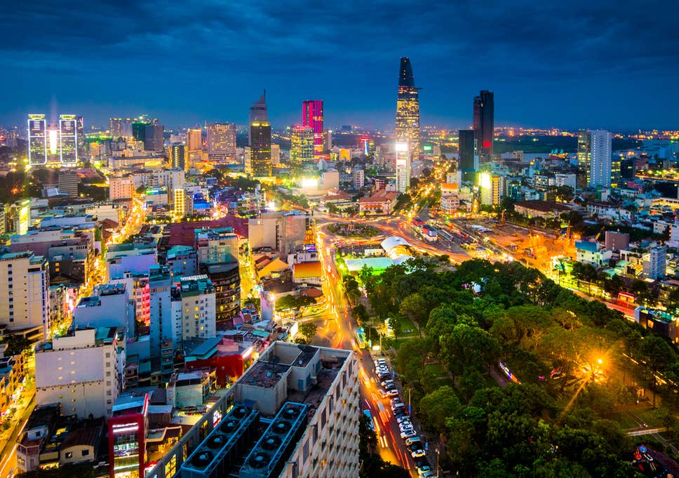 Hình ảnh thành phố Hồ Chí Minh về đêm