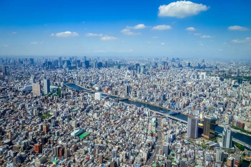 Hình ảnh thành phố tokyo từ trên cao
