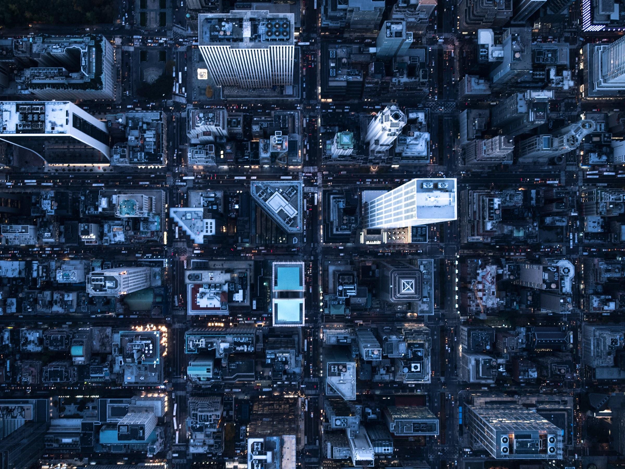 Hình ảnh thành phố từ trên cao