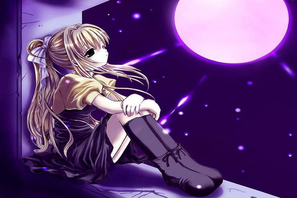 ảnh anime nữ buồn