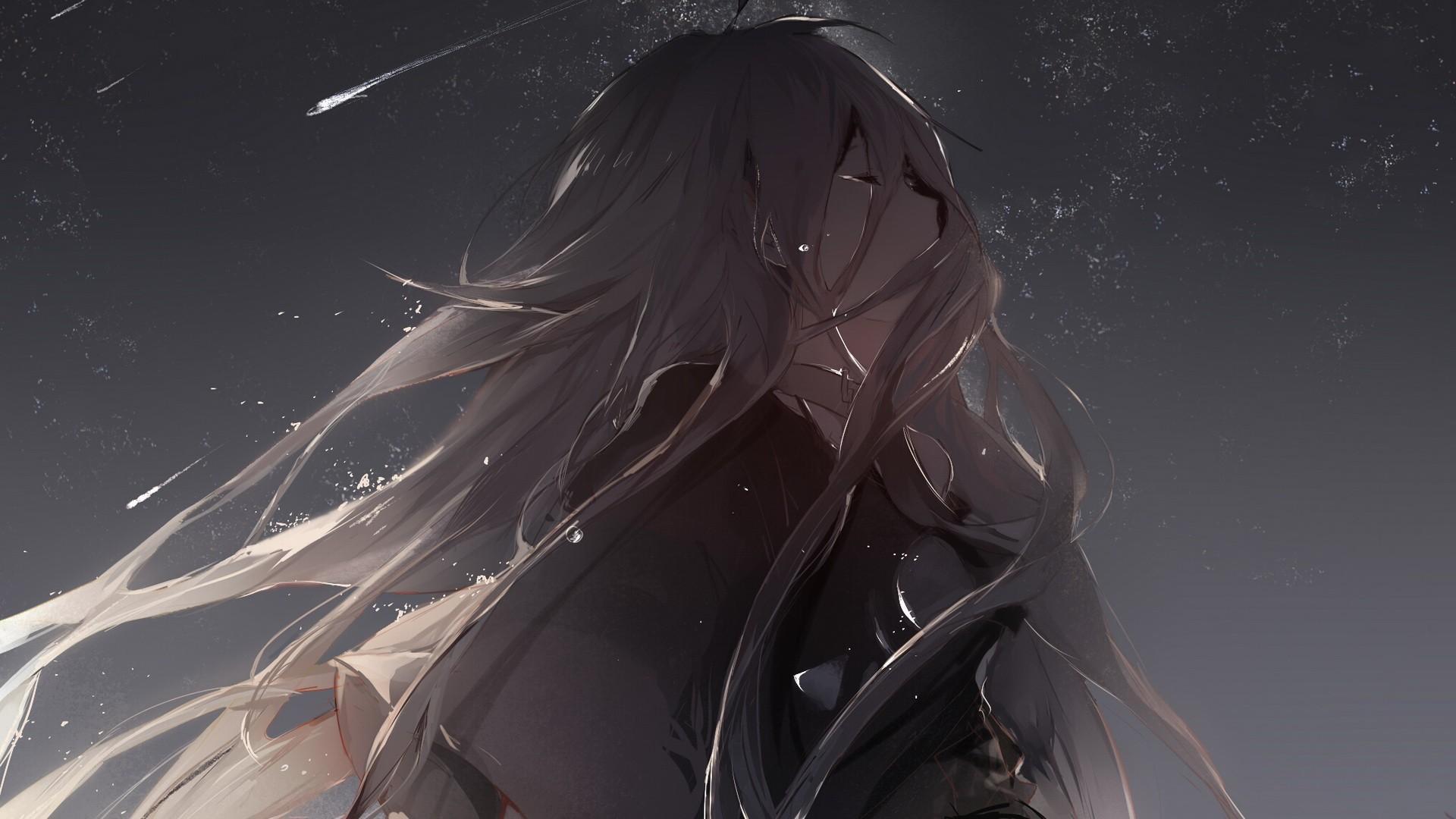 hình ảnh anime buồn khóc