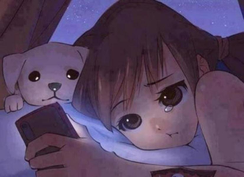 hình ảnh anime girl buồn