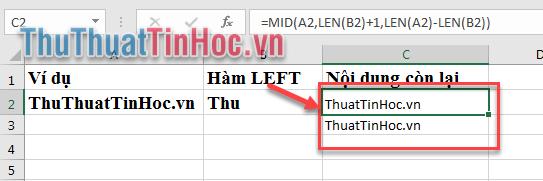 Kết quả C2 và C3 đều cho kết quả là ThuatTinHocvn