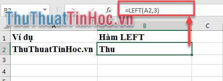 Kết quả tách ô bằng hàm LEFT