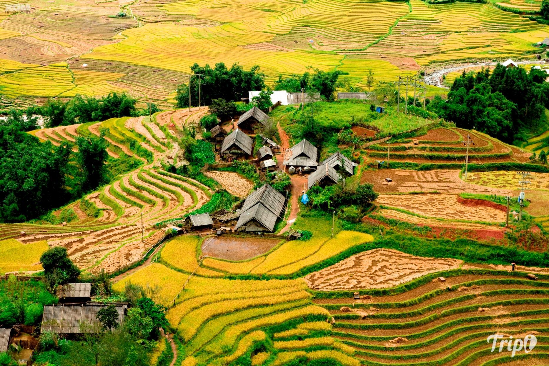 Hình ảnh quê hương Tây Bắc nhìn xuống từ trên cao