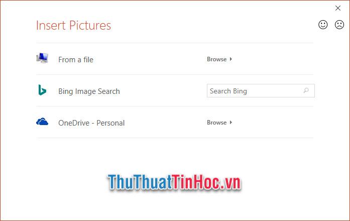 Bấm vào From a file để lựa chọn hình ảnh đã lưu trữ sẵn trong máy tính của mình