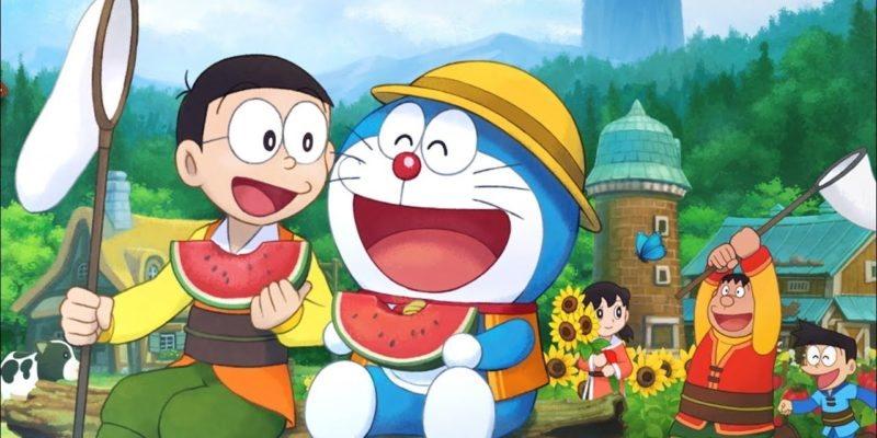 Ảnh Doraemon và các bạn dạo chơi nông trường