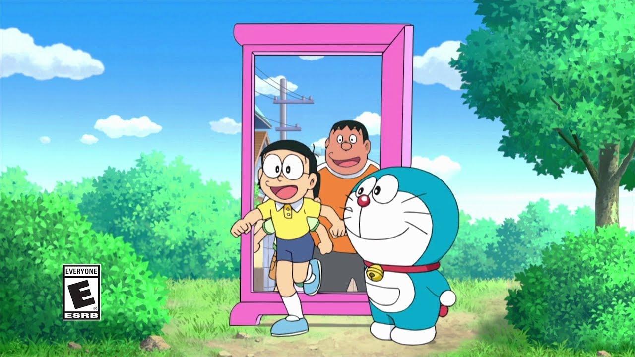 Bức ảnh mèo máy Doraemon vào  cánh cửa thần kỳ
